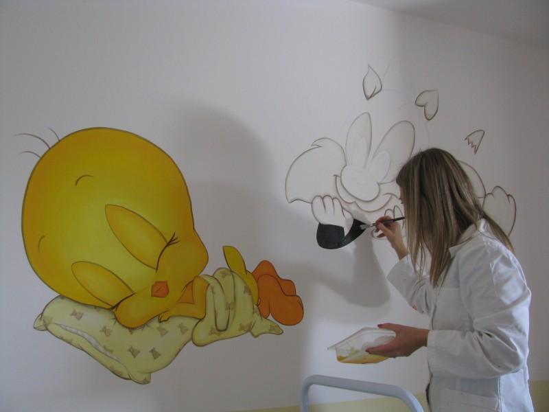 Cinzia perino art dipinti trompe l 39 oeil vetrate - Foto di camerette per bambini ...